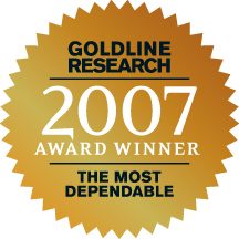 Goldline Research 2007 Winner - The Most Dependable